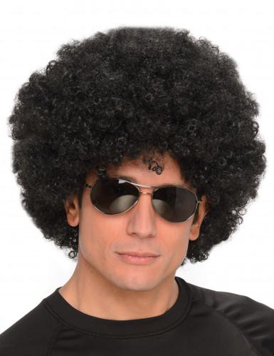 Parrucca afro/clown nera per adulto