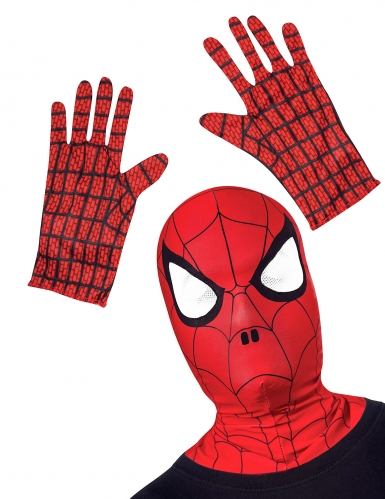 Kit accessori per travestimento da Spiderman™: cappuccio e guanti bambino