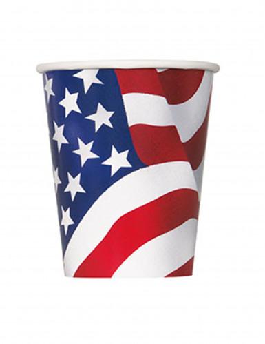 8 bicchieri di cartone USA