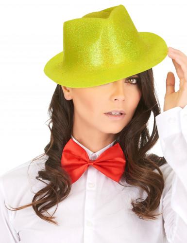 Cappello giallo con brillantini per adulto-1