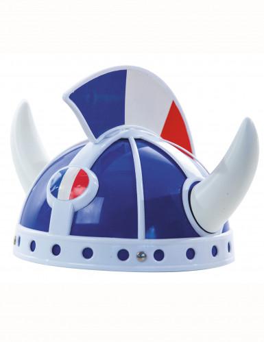 Cappello da gallico bianco, rosso e blu per adulto