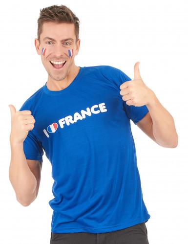 T-shirt I love France adulto