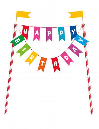 Decorazione per torta Happy Birthday