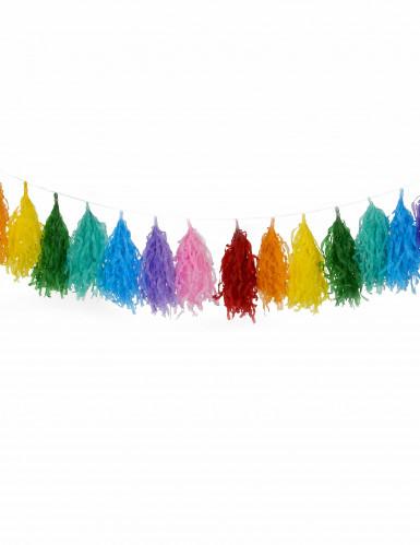Ghirlanda nappe 16 pompom multicolore-1