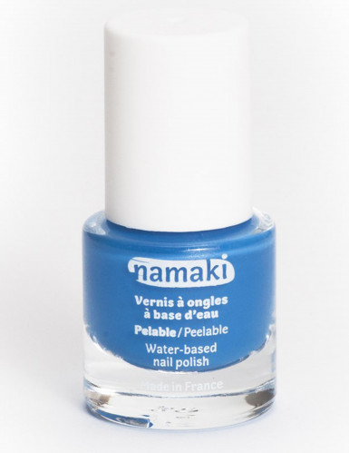 Smalto per unghie a base di acqua blu 7,5 ml Namaki Cosmetics ©