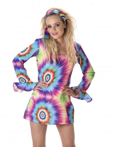 Costume hippie psichedelico da donna-1