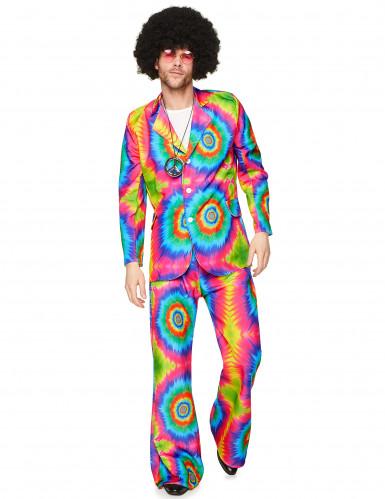 Costume hippie psichedelico da uomo-1