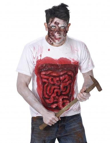 Costume zombie con interiora in latex per uomo halloween-1