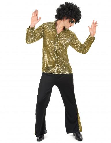 Costume disco dorato per uomo