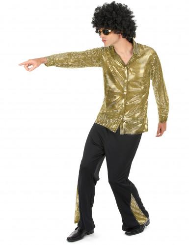 Costume disco dorato per uomo-1