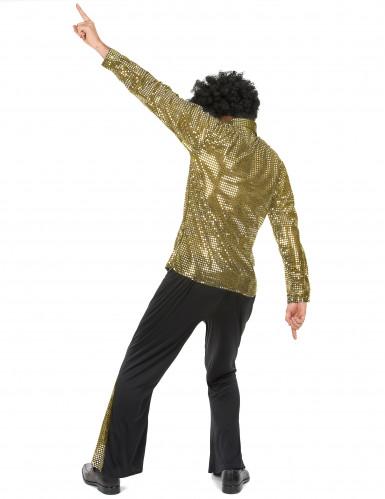 Costume disco dorato per uomo-2