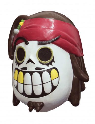 Maschera da pirata Dia de los Muertos di Calaveritas® per adulto