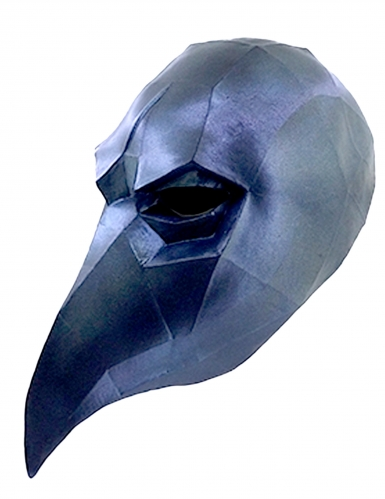 Maschera da corvo Low Poly