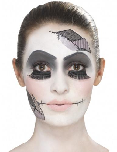Kit trucco bambola inquietante per adulto Halloween-2