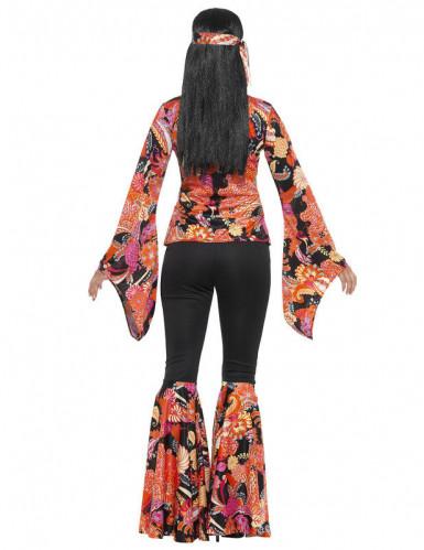 Costume hippie nero e multicolore per donna-2