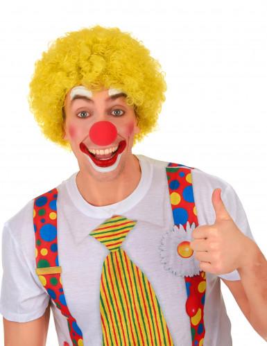 Parrucca afro/clown gialla standard per adulto-1