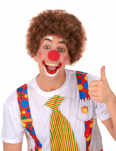 Parrucca afro/clown marrone standard per adulto-1