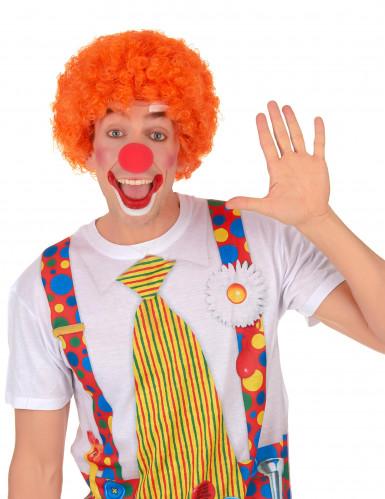 Parrucca afro/clown arancione per adulto-1