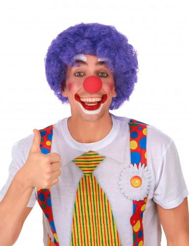 Parrucca afro/clown viola standard per adulto-1