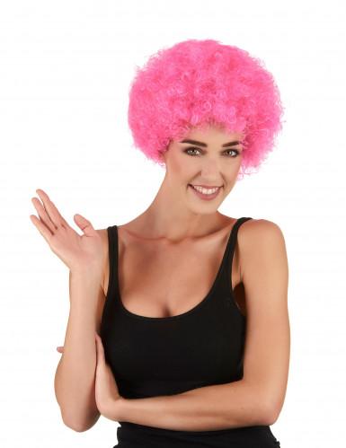 Parrucca afro/clown rosa standard per adulto
