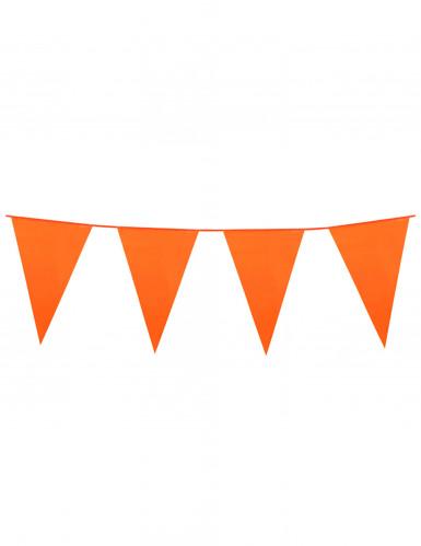 Ghirlanda di bandierine arancioni