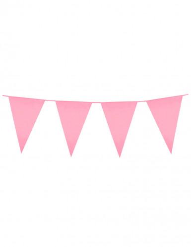 Ghirlanda di bandierine rosa