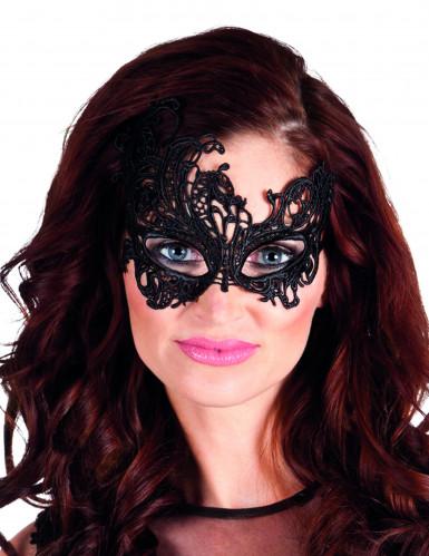 Maschera di pizzo nero donna