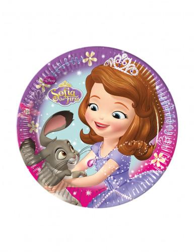 8 piattini in cartone principessa Sofia™