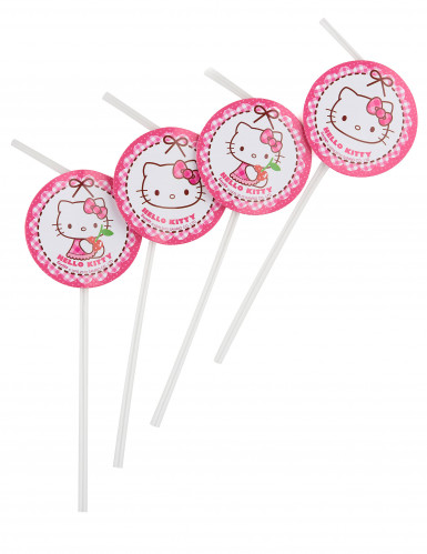 6 Cannucce con medaglione Hello Kitty™
