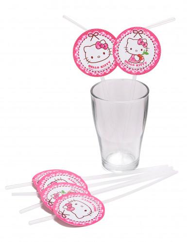 6 Cannucce con medaglione Hello Kitty™-1