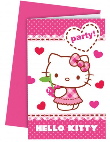6 Cartoncini d'invito Hello Kitty™