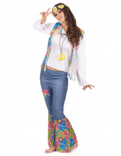 Costume coppia hippie tipo jeans adulto-2