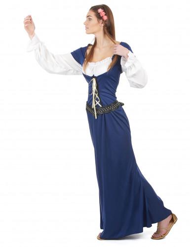 Costume coppia medievale blu dulto-2