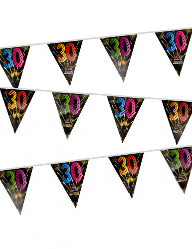 Ghirlanda 20 bandierine in plastica 30 anni fuochi d'artificio