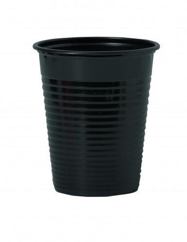 50 bicchieri di plastica neri
