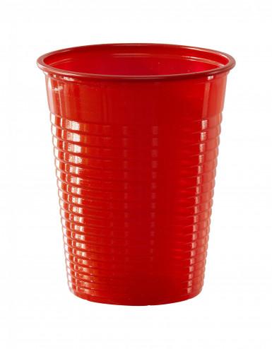 50 bicchieri rossi