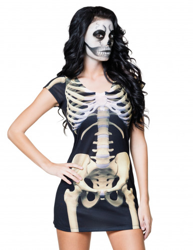Travestimento scheletro donna Halloween