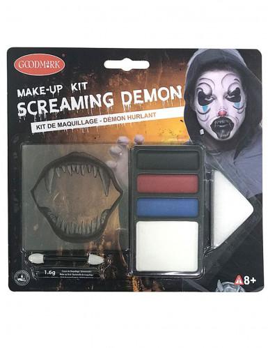 Kit trucco Halloween: demone urlante