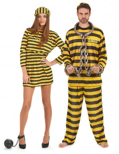 Costume coppia carcerati adulto