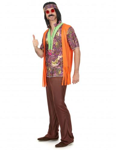 Costume coppia Hippie arancione adulto-1