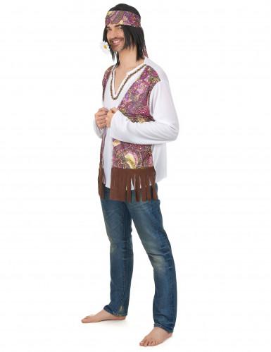 Costume coppia Hippie viola adulto-1