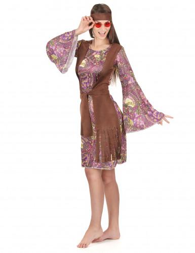 Costume coppia Hippie viola adulto-2