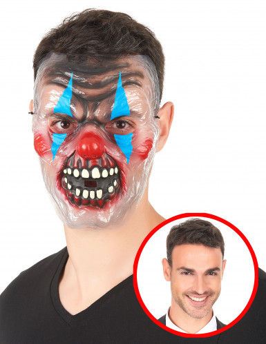 Maschera Clown Bicolore Adulto