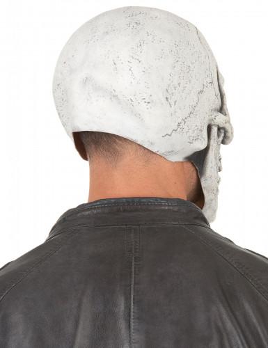 Maschera in lattice da scheletro beffardo per adulto-1