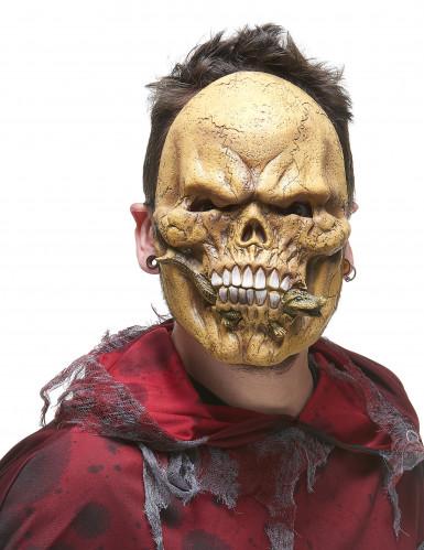 Maschera scheletro mangiatore di rettili adulto-1