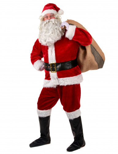 Costume completo Babbo Natale Lusso adulto-1