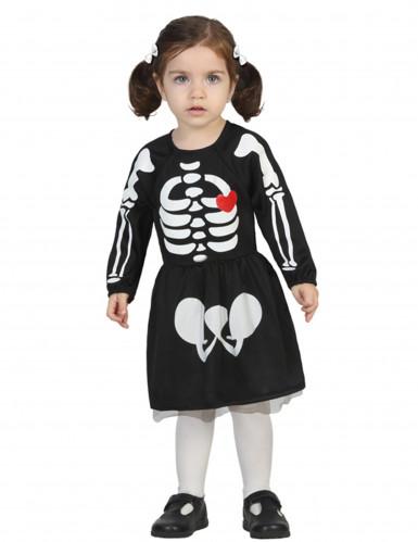 Costume neonato scheletro bambina Halloween