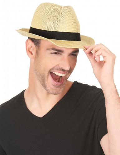 Cappello borsalino banda nera adulto-2
