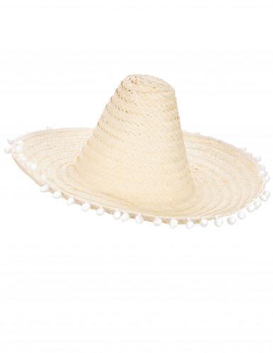 Sombrero di paglia ecrù per adulto