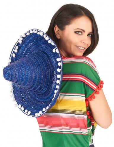 Sombrero messicano blu per adulto-2